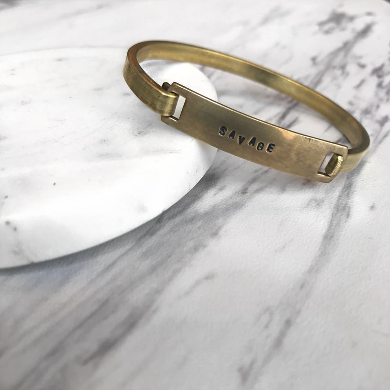 savage // brass bracelet