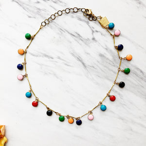 rainbow fringe choker - Shop trendy womenswear styles on www.downerss.com