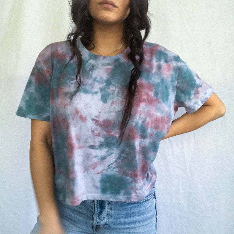 Forest Cloud Tie Dye T-Shirt - L