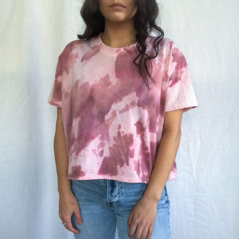 Clay Cloud Tie Dye T-Shirt - L