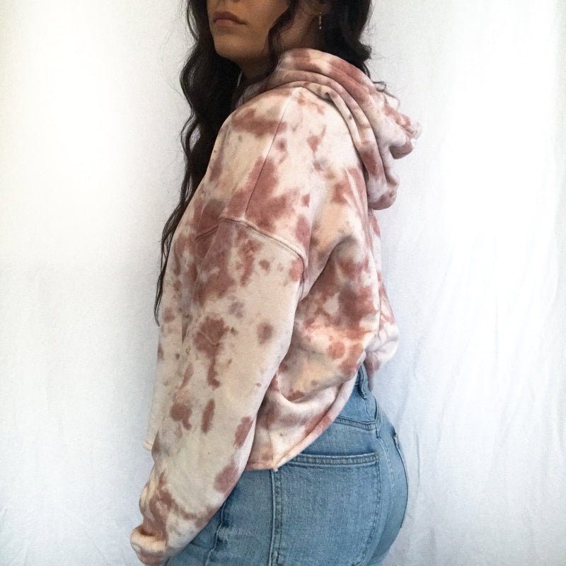 Dark Peach + Clay Cloud Tie Dye Hoodie