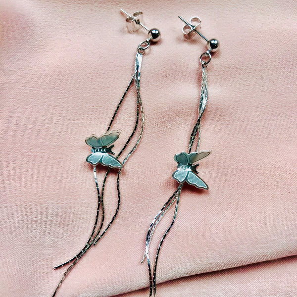Butterfly Chain Drop Earrings