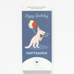 Birthday Card with Chocolate Inside - Partysaurus