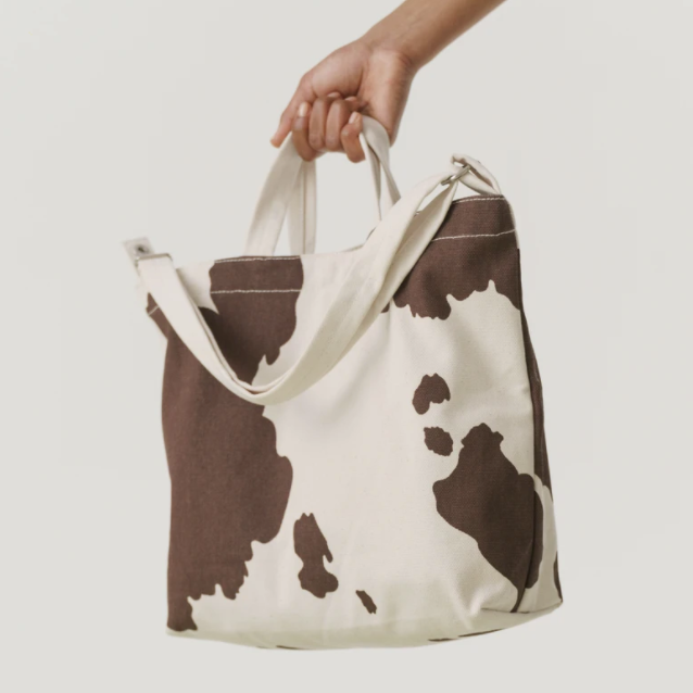 Brown Cow Canvas Bag