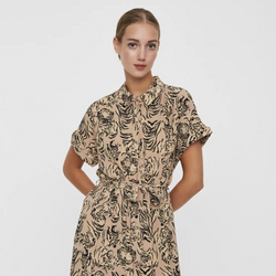 Tiger Print Shirt Dress