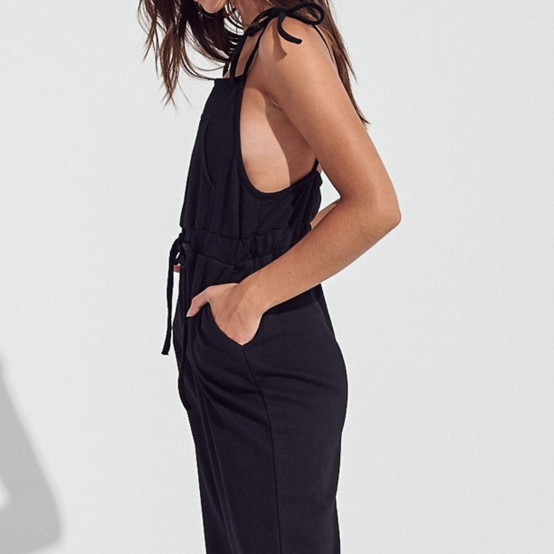 Shoulder Tie Knit Overalls