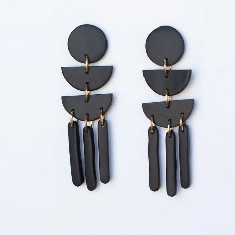 Moon Child Dangles - Black