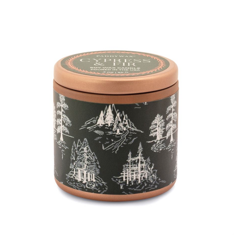 Cypress & Fir Green Copper Tin