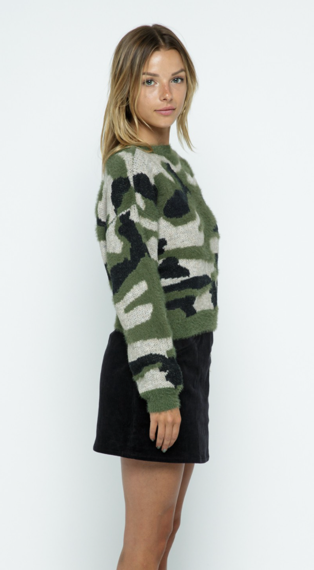 Knit Camo Sweater