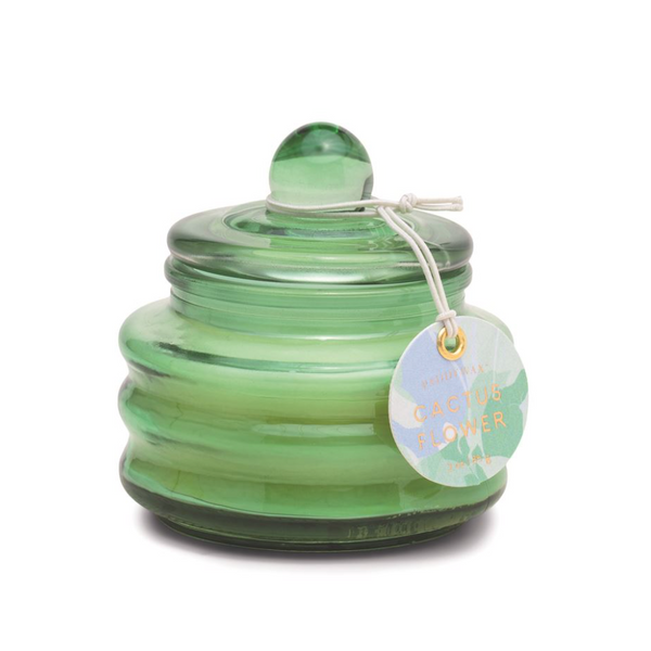 Mint Green // Cactus Flower - Mini Glass Container
