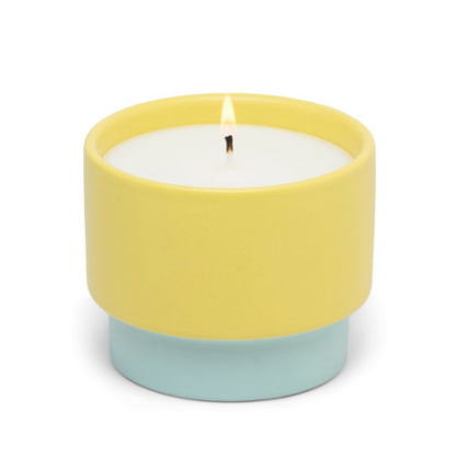 Color Block Ceramic Candle // Minty Verde
