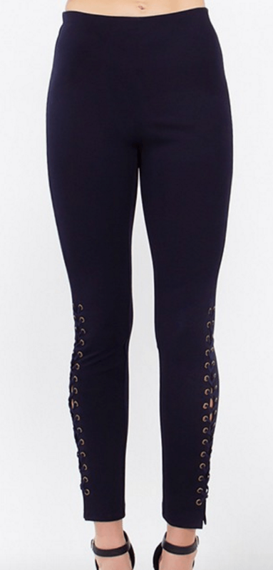navy grommet leggings