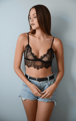 simple lace bralette