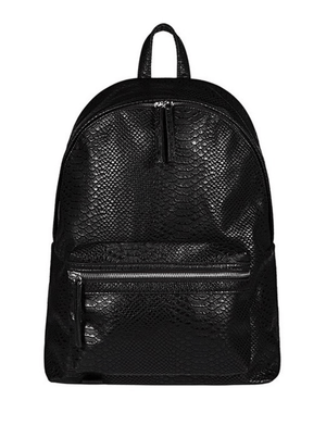 vegan snakeskin backpack