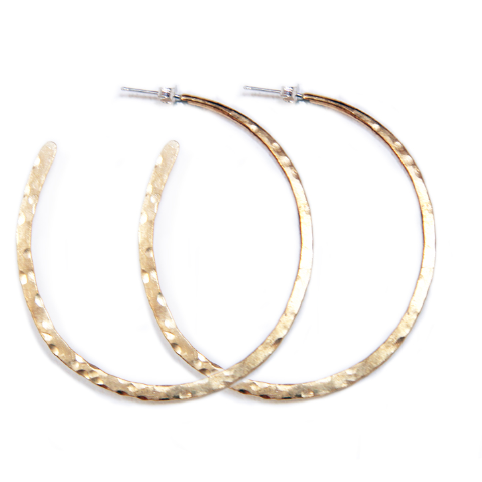 hammered hoops - Shop trendy womenswear styles on www.downerss.com