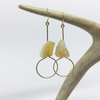 citrine earring // bopbe - Shop trendy womenswear styles on www.downerss.com