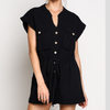 black utility romper - Shop trendy womenswear styles on www.downerss.com