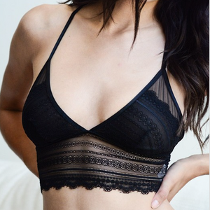 lace keyhole bralette - Shop trendy womenswear styles on www.downerss.com
