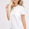 white pocket tee