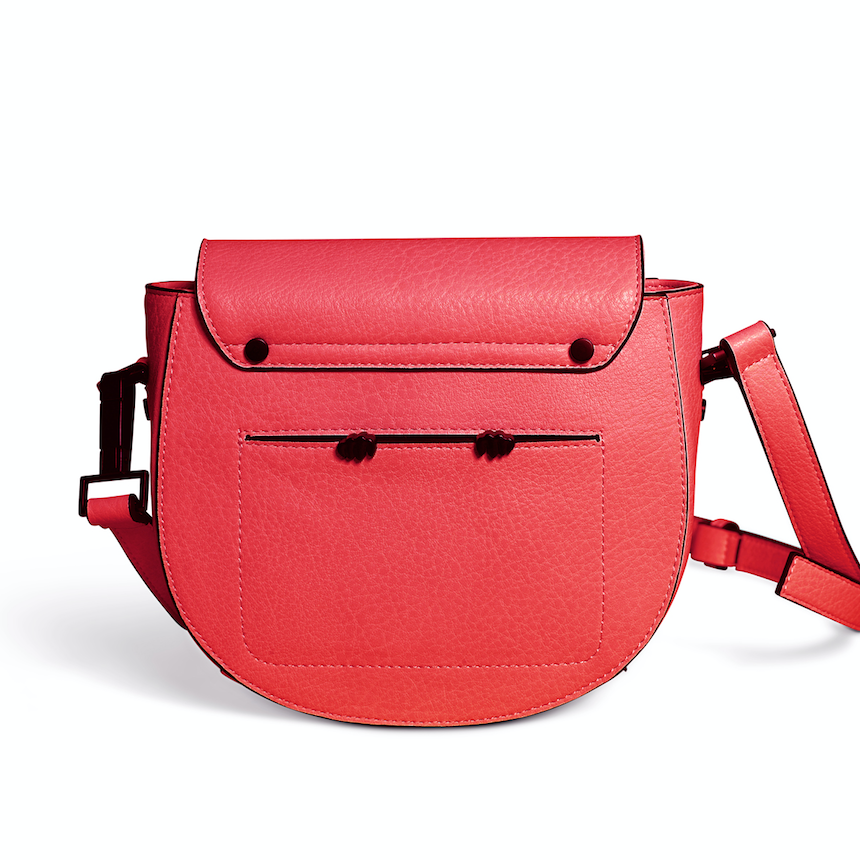 saddle crossbody bag // crimson