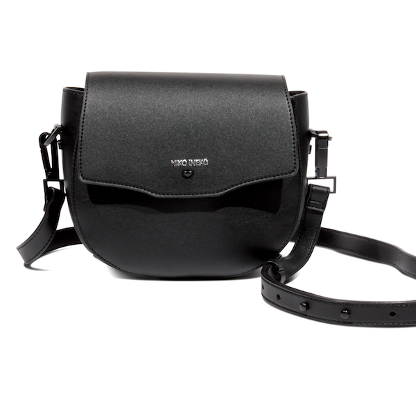 saddle crossbody bag // black
