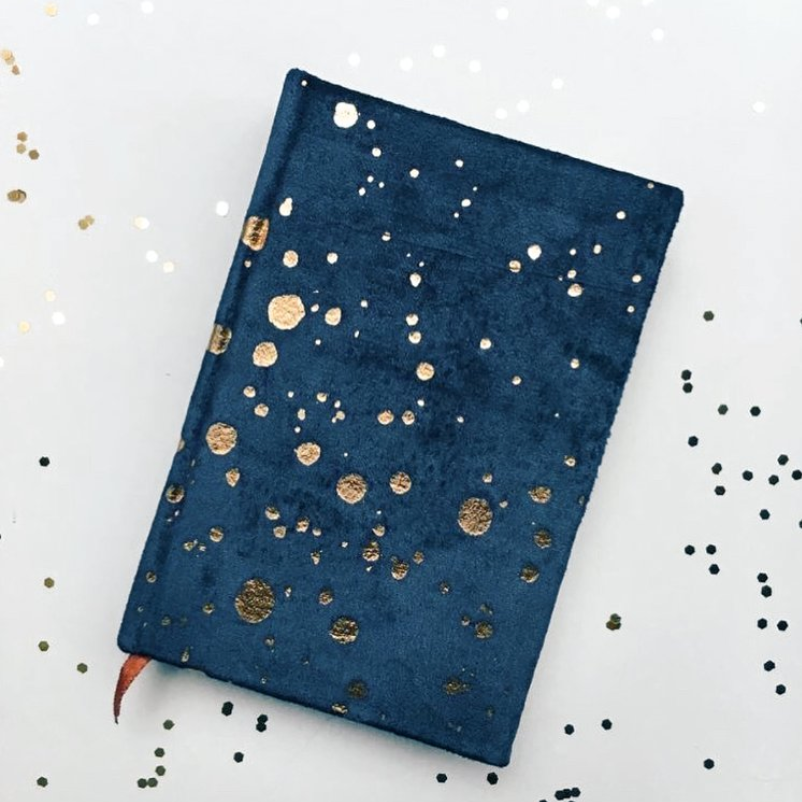 paint splatter velvet journal