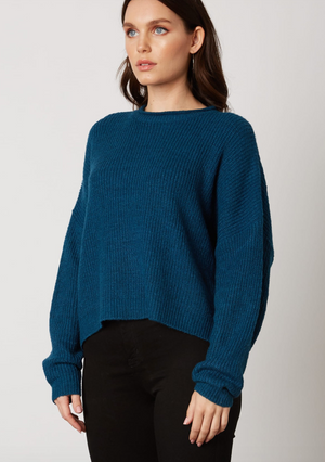 teal sweater