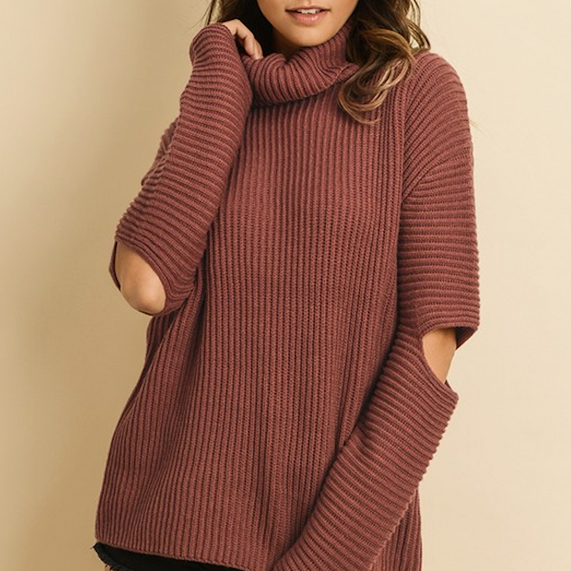 peekaboo elbow sweater