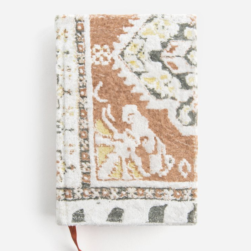 pastel tapestry small velvet journal