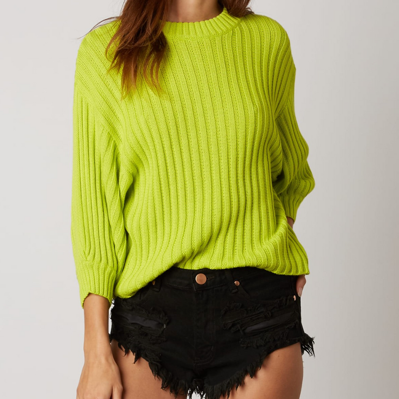lemon lime sweater