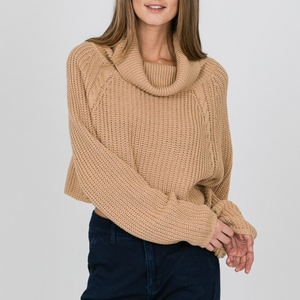 sand cropped turtleneck