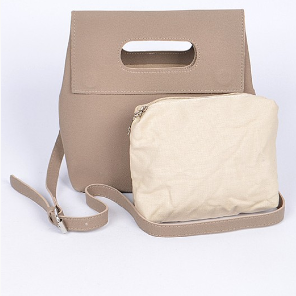 Beige Casual Clutch - Shop trendy womenswear styles on www.downerss.com