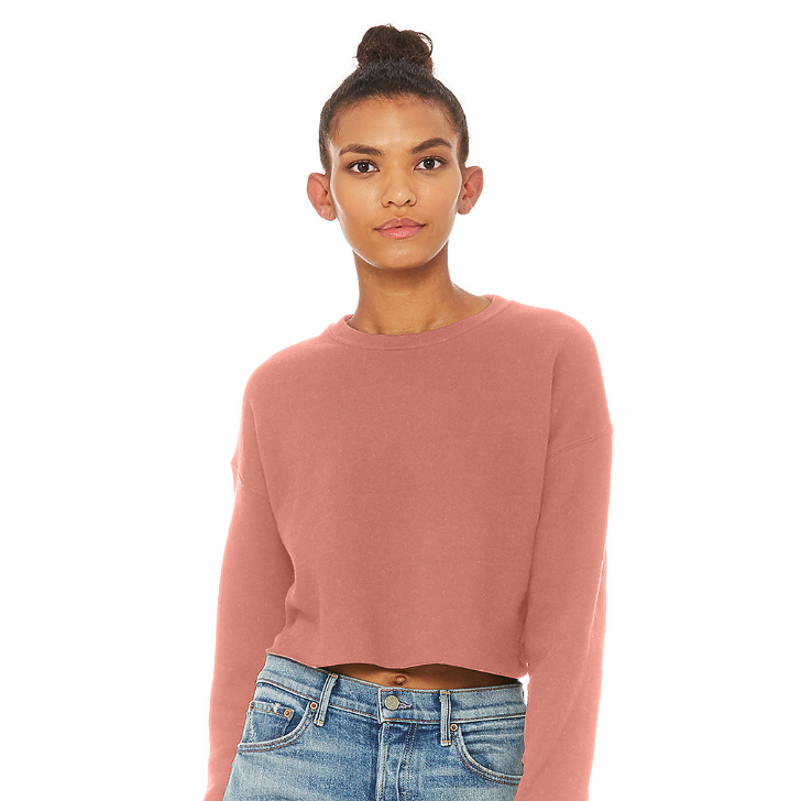 mauve cropped pullover