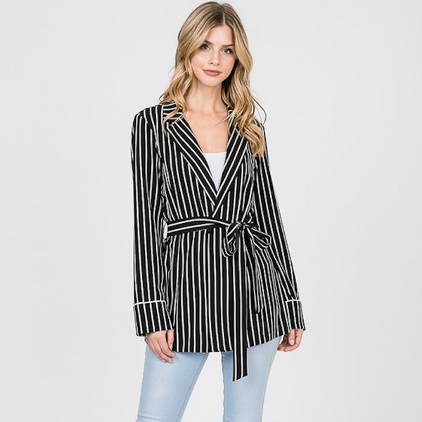 Lightweight Striped Cardigan