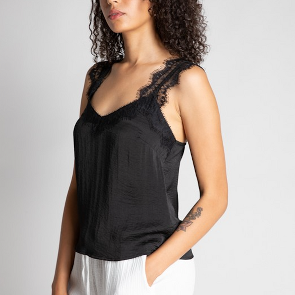 Black Lace Cami - Shop trendy womenswear styles on www.downerss.com