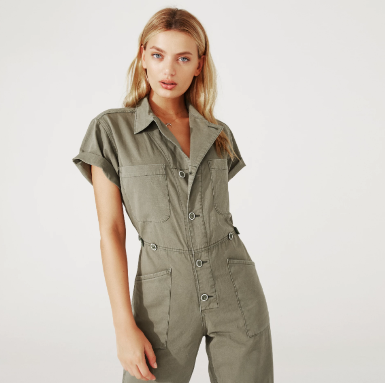 fashionable patterns top-rated professional brand new Grover Short Sleeve Jumpsuit