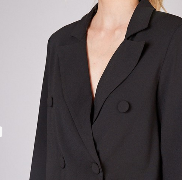 Cropped Button Down Blazer - Shop trendy womenswear styles on www.downerss.com