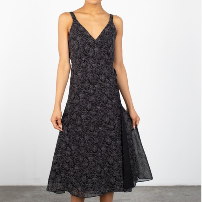 Mildred Dress - Abstract Polka Dot Midi