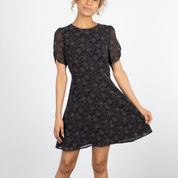 Melody Dress - Abstract Polka Dot Mini
