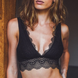 black lace bralette - Shop trendy womenswear styles on www.downerss.com