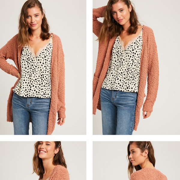Clay Textured Cardigan Sweater - Shop trendy womenswear styles on www.downerss.com