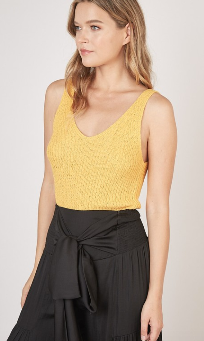 Sunshine Knit Tank Top