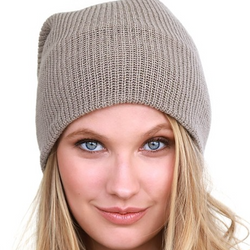 light brown soft & slouchy beanie
