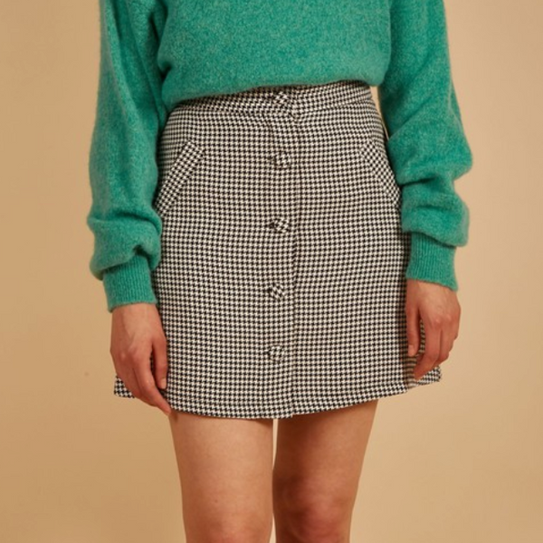 Houndstooth Parisian Skirt