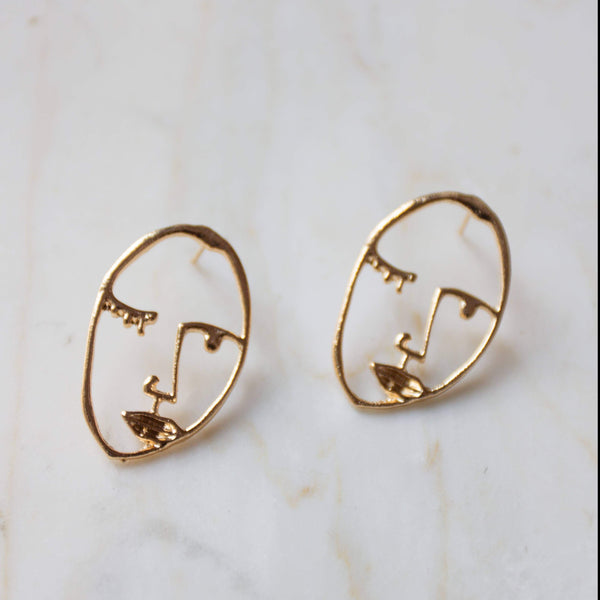 Face Earrings - Visage Studs