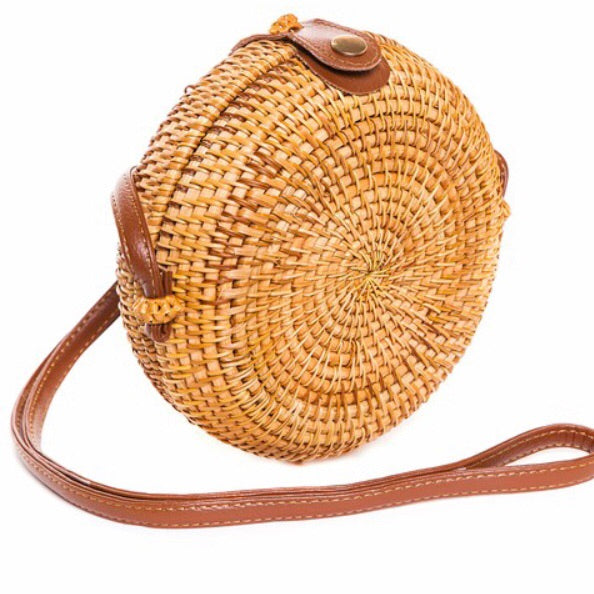 Wicker Circle Clutch