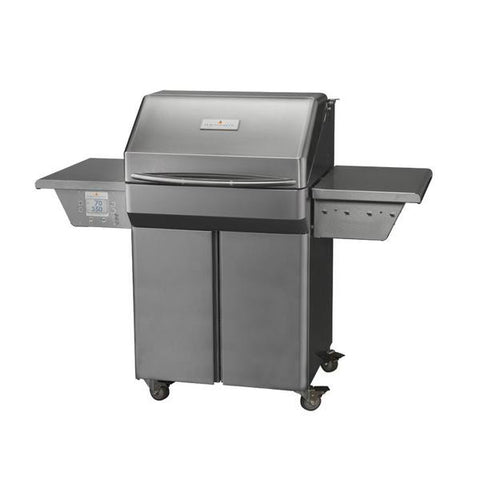 Memphis Pro Wood Fire Pellet Grill Cart Model Front Right View