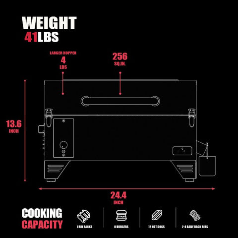"Camp Chef Woodwind PG24CLSS 24"" Black Freestanding Pellet Grill & Smoker w/ Sear Box"