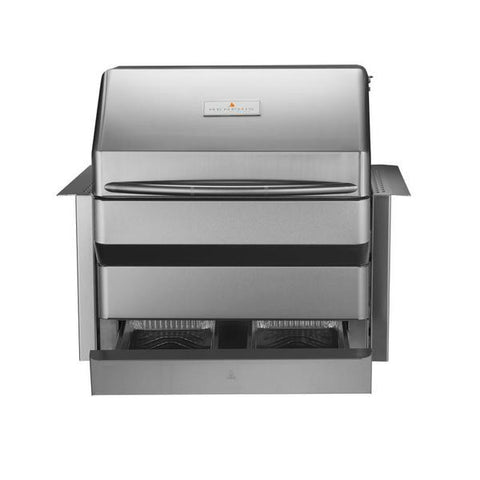 "Image of Memphis VGB0001S Pro 28"" Stainless Steel Built-In Wood Fire Pellet Grill w/ Wifi"