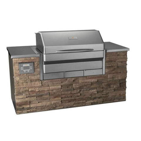 "Image of Memphis VGB0002S Elite 39"" Stainless Steel Built-In Wood Fire Pellet Grill w/ Wifi"